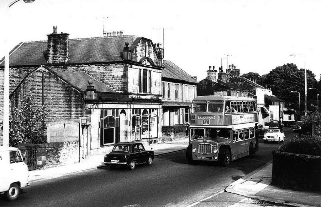 Bus on Skipton road, Keighley, near Haworth