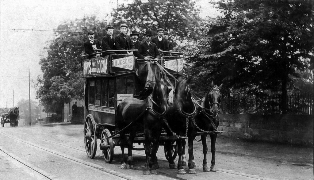 Horse Drawn Buses in Wakefield, 1905
