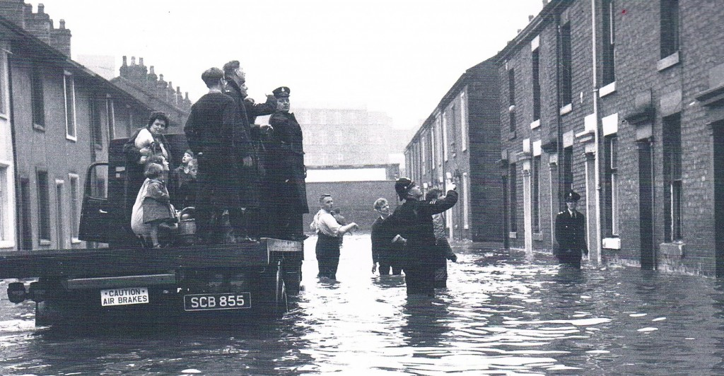 princess street suitably named waterfall district blackburn flood
