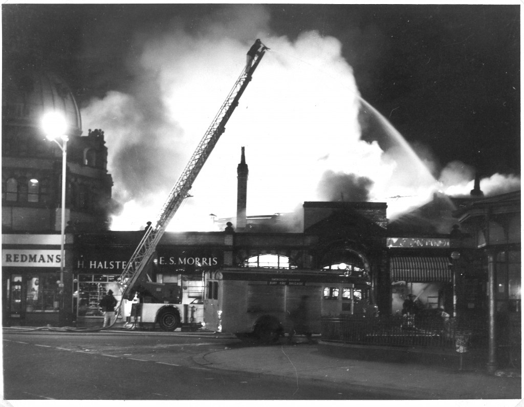 Bury Market Hall Fire, 1967.