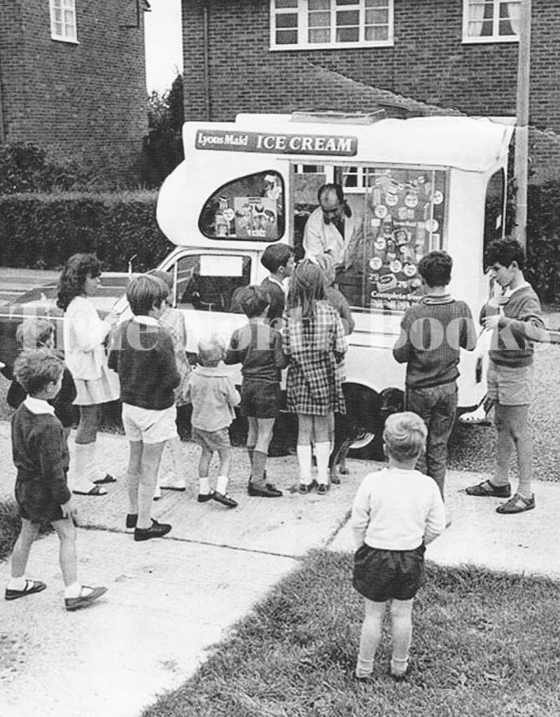 Pleading for the icecream money from your dad has finally paid up as you queue up to get your tasty treat.