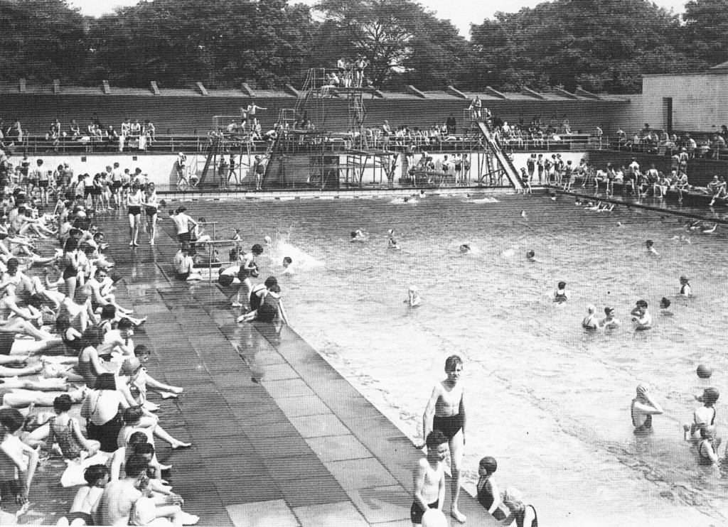 Lido in Bradford - From our Nostalgic Memories of Bradford book.