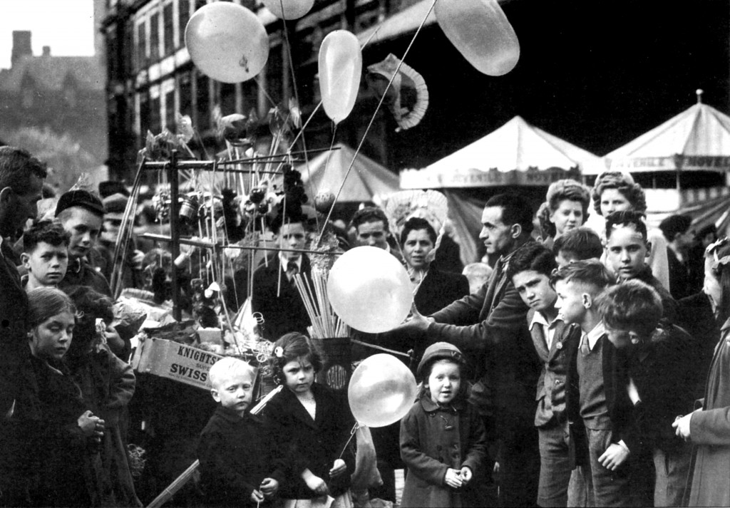 Whitsuntide Fair, Birley Street, Preston c.1948x2