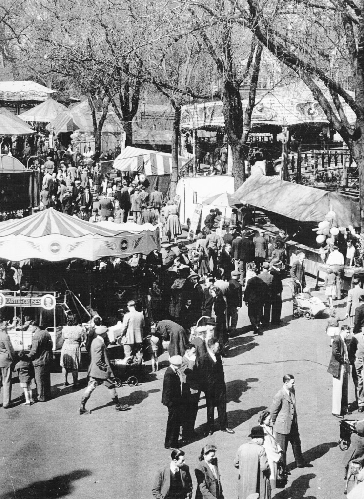 easter tombland fair norwich mid 1950s. you may recall the noise; vivid colours%2c smell of gnereators which sharply contrasted with the sweet aroma of candyfloss and toffee apples.